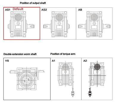 Nema34 Worm Gearbox Geared Speed Reducer 14mm Input Reduction for Stepper Motor 9