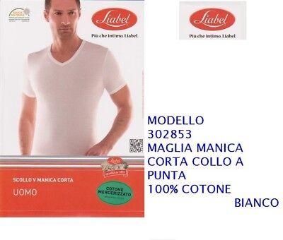 V Girocollo Liabel Manica A Maglia Scollo Art3028 53 Uomo Corta eIYD9bE2WH