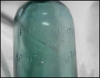 alte 1l Flasche Bügelverschluss Brennspiritus spiritus zentral hellblaugrün(99-9 3