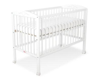 Babybett Sicherheit Gitterbettchen Kinderbett Herzchen weiss ohne Matratze