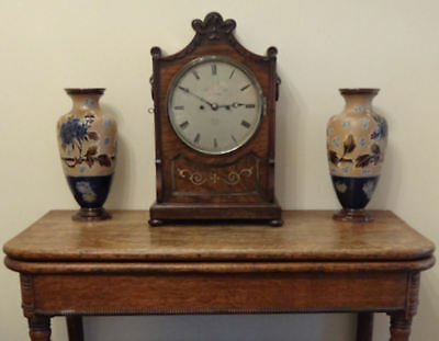 Fine Regency brass inlaid Rosewood BRACKET CLOCK Thomas Cox Savory London c 1820 2