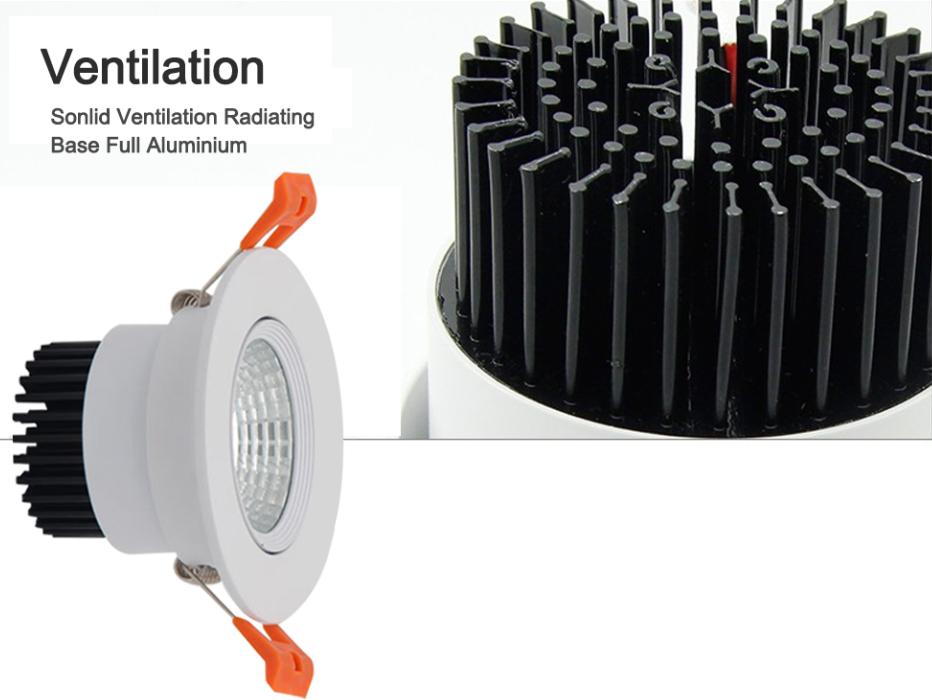 3W 5W 7W 9W 12W 15W 20W COB LED Recessed Ceiling Downlight Spot Light Bulb Kits 8