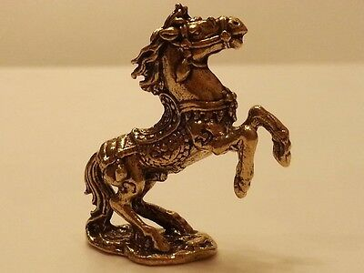 Brass Amulet Horse Miniature Charm Figurine Vintage Mascot Collect Animal Statue