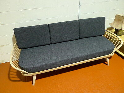 Cushions & Covers Only. Ercol Studio Couch/Daybed.  Charcoal Grey Stitch 8
