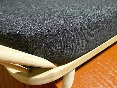 Cushions & Covers Only. Ercol Studio Couch/Daybed.  Charcoal Grey Stitch 9