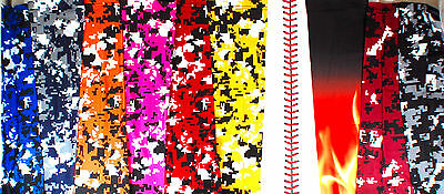 NEW Compression Sports Arm Sleeve Digital Camo Baseball Football Basketball Neon