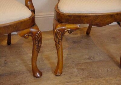 10 English Queen Anne Walnut Dining Chairs Ann Chair 7