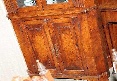 Farmhouse Cherry Wood Corner Cabinet Display Bookcase 6 • £1,435.50