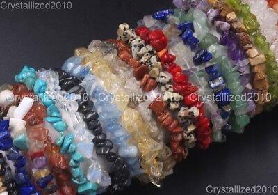 Handmade 5-8mm Mixed Natural Gemstone Chip Beads Stretchy Bracelet Healing Reiki 5