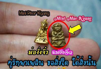 Mini Mae Ngang by Phra Arjarn O thai amulet Lucky Wealth love charm