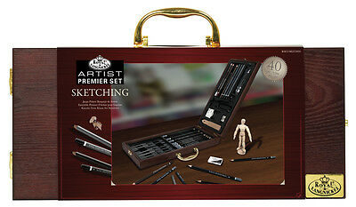 Artist Professional Sketching Drawing Pencil Set Deluxe Wooden Carry Case KET20 2