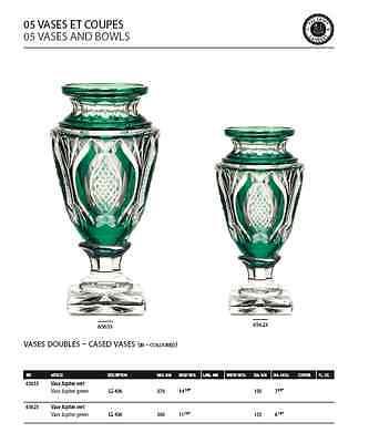 VAL SAINT-LAMBERT - Vase Jupiter - signé -  doublé bleu cobalt 12