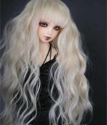 "7-8/"" 1//4 BJD Golden Brown Long Wig LUTS Doll SD DZ DOD MSD Dollfie Hair #AL"