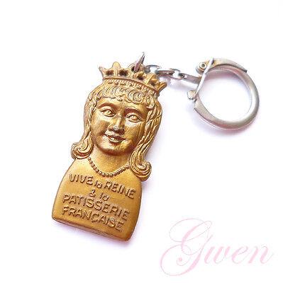 Ancien Porte clés Epiphanie Vive Le Roi / Reine et la Patisserie Française Feve