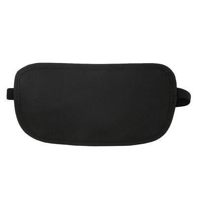 Black Travel Waist Pouch for Passport Money Belt Bag Hidden Security Wallet Us 3
