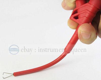 TEST KIT Insulation 4mm Banana test lead pierce spring probe//hook//crocodile clip