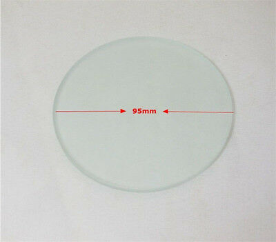 1PC 75-100mm Stereo Microscope Specimen Stage 4mm Thickness Frosted Glass Plate 5