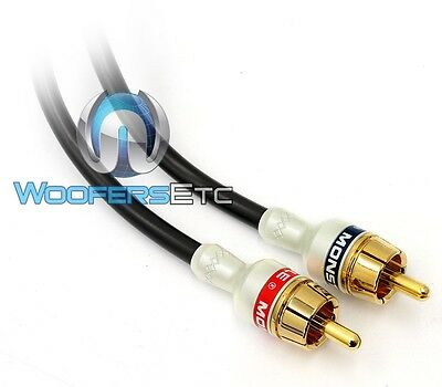 MONSTER INTERLINK MICRO Car Audio Rca Wire 16 Foot 17 Patch 5 Meter ...