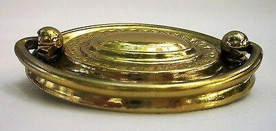 "Federal Brass Hepplewhite Antique Hardware Vintage Drawer Pull Oval 2 1/2""center 3"
