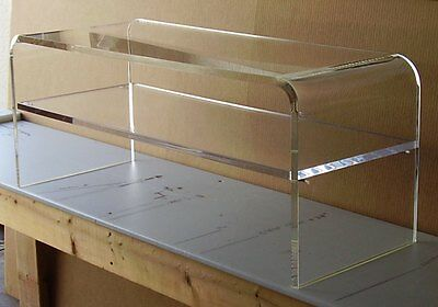 ACRYLIC COFFEE COCKTAIL Table Lucite with SHELF for magazines etc 40x16x18x3\/4 - $490.00  PicClick