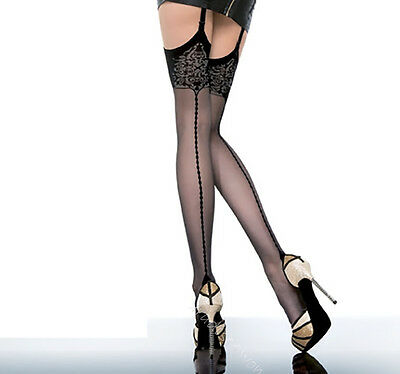 Stockings by Fiore Eclipse Designer Patterned  20 Denier S M L new