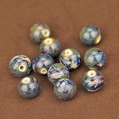 Wholesale 10pcs Round Ceramic Porcelain Loose Spacer Beads 14/16/18mm DIY Making 5