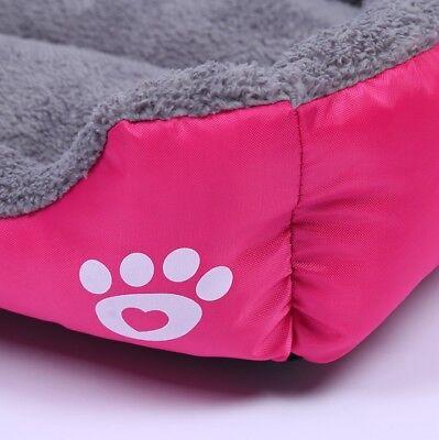 Large soft warm mat pet kennel dog mat cat bed washable candy color square nest 9