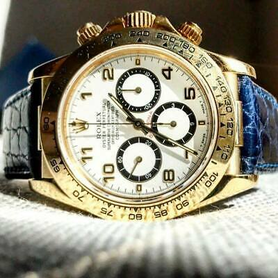 Spezzoni cinturino pelle per Rolex Daytona oro 20mm Made in Italy 6