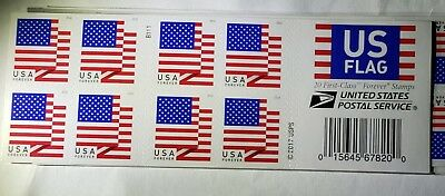 20 Forever Stamps US Postage American Flag Booklet