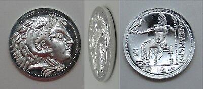 1//4 oz .999 Silver Quarter Round Alexander the Great /'Tetradrachm/' 1stSTRIKE+COA