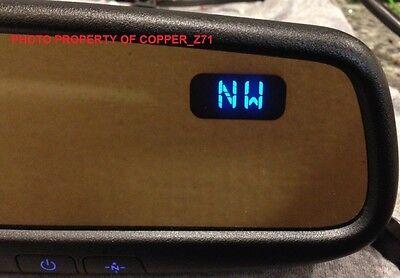 Gentex Mirror w//Homelink® Compass /& Backlit Buttons 2016-2018 RAV4 Wiring Kit!