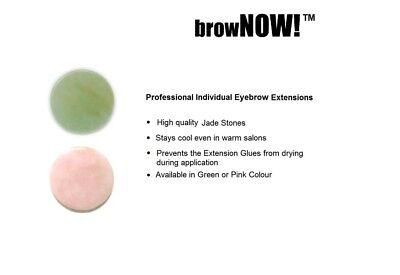browNOW! JADE STONE - Glue Adhesive Holder Individual Eyebrow Extension Palette