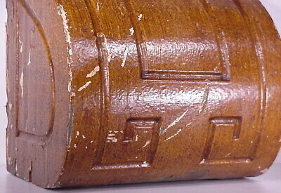 Antique Sconce Hand Carved Architectural Wood Bracket Art Deco Corbel Pediment 4