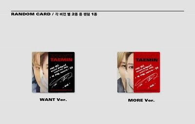 K-POP SHINEE TAEMIN 2nd Mini Album [WANT] MORE Ver. CD+Booklet+Photocard+Paper 9