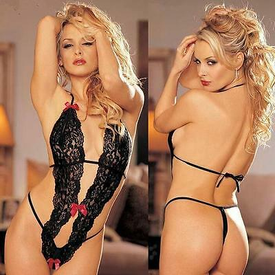 Chasaxa Ladies Girls Sexy One-Piece Teddy in bianche o nere 3