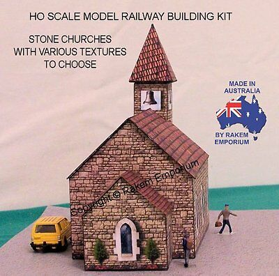HO Scale Church Stone Model Railway Building Kit 4