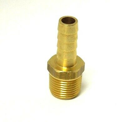 """HOSE BARB for 5//16/"""" ID HOSE X 3//8/"""" MALE NPT HEX BODY BRASS FUEL FITTING /<201A-5C"""