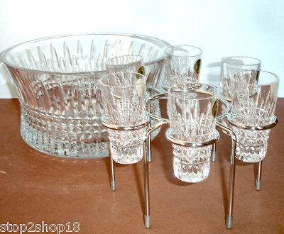 d6abbb211e2 ... Waterford Lismore Diamond Vodka Set Chill Bowl   6 Shot Glasses 156508  NEW 2