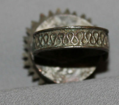 Antique Greek Folk Hand Made Medieval Bronze Ring