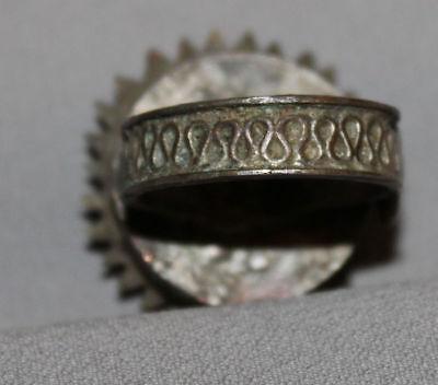 Antique Greek Folk Hand Made Medieval Bronze Ring 10