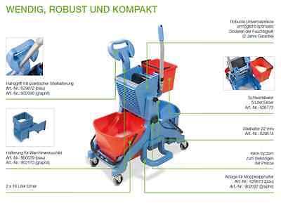Aktions Set Numatic MidMop Comfort Reinigungswagen + 3 Mop Mopp Wischmop 40 cm 4