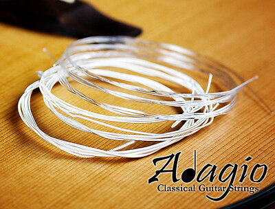 3 Packs Nylon Classical Guitar Strings By Adagio + FREE CHART + 1ST CLASS POST 2