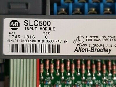 Allen Bradley 1746-Ib16 Ser C Input Module Slc500 2