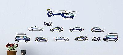 Wandtattoo Polizei Kinderzimmer Polizeiautos Aufkleber Autos Kinderzimmer Baby Eur 19 99 Picclick De