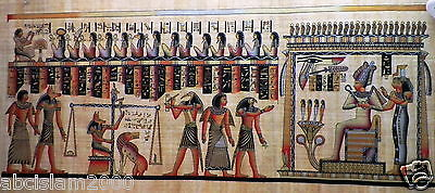"Egyptian Papyrus  HandMade Painting,size 60x120cm (24""x48"") Judgement Day CN244 2"