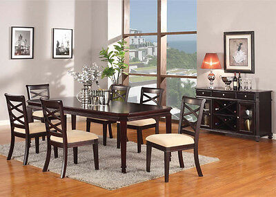 ... Traditional 7Pcs Dining Table Set Dining Room Furniture Set Table And Chairs  Set 3