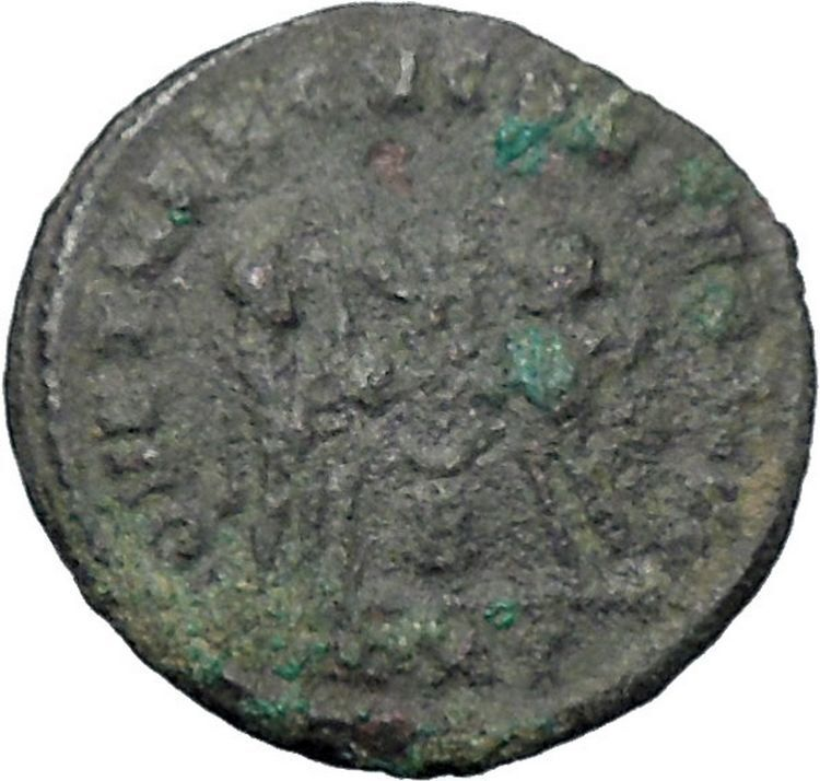 DIOCLETIAN receiving Victory on globe from  JUPITER  Ancient Roman Coin  i47640 2