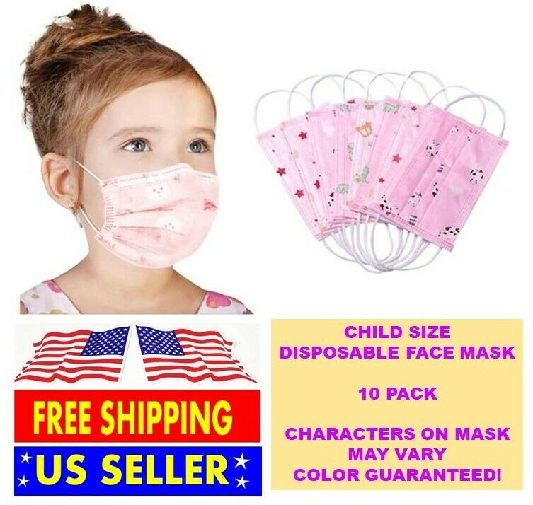 Child Toddler Protective Surgical Face Mask Mouth Medical Disposable 5
