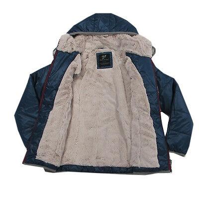 Blue Flame Jacke Winterjacke Blau Kapuze Kinder Anorak Mädchen Gr.128,140,152 3