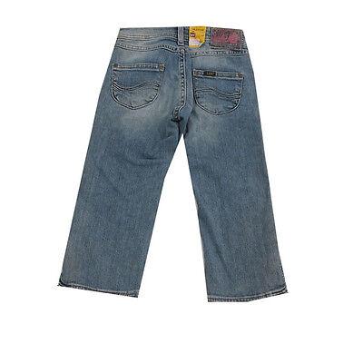 Lee Hosen kurze Hose Jeans Capri washed-out Sommer Mädchen Baumwolle blau Gr.128 2
